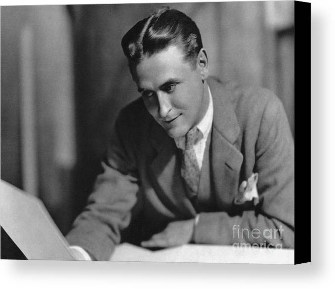 1925 Canvas Print featuring the photograph F. Scott Fitzgerald by Granger