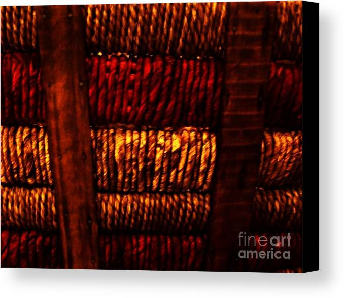Photos Canvas Print featuring the photograph Abstract Ribbed Rows by Marsha Heiken