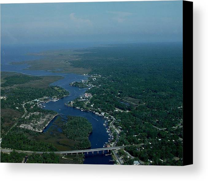 Aerial Canvas Print featuring the photograph Aerial View 2 by Debbie May