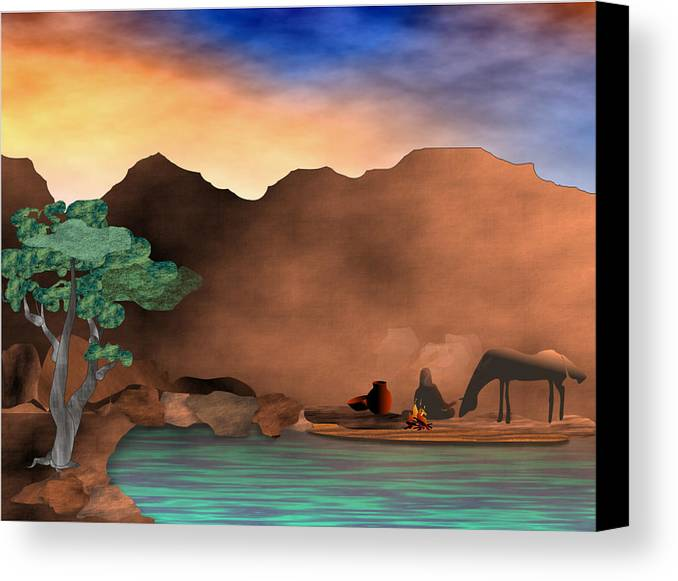 Arizona Canvas Print featuring the digital art Arizona Sky by Arline Wagner