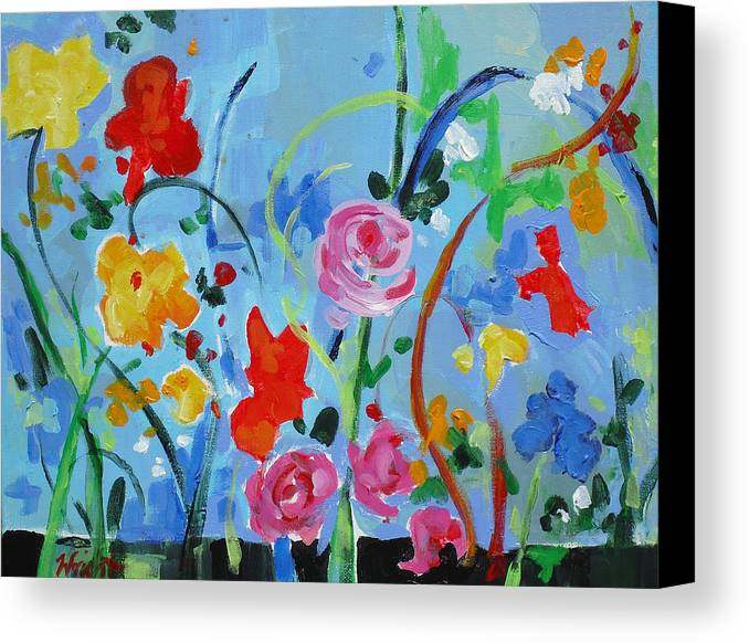 Contemporary Canvas Print featuring the painting Avant Garden by Molly Wright