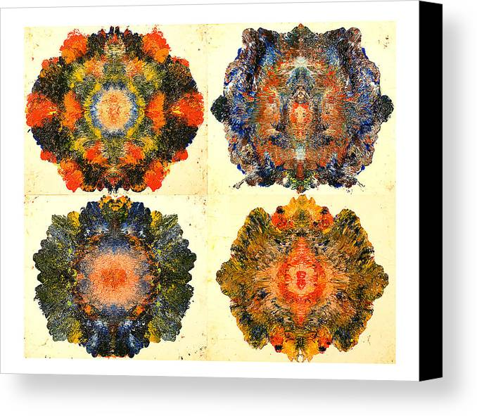 Abstract Canvas Print featuring the painting Axiology by Howard Goldberg