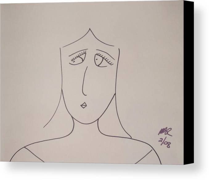 Black And White Canvas Print featuring the drawing Bad Habit by Nicholas A Roes