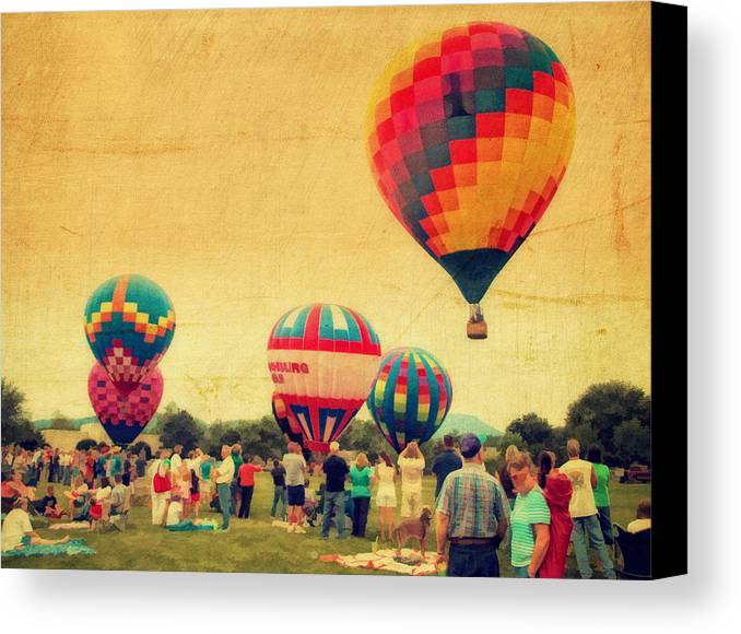 4th Of July Canvas Print featuring the photograph Balloon Rally by Kathy Jennings