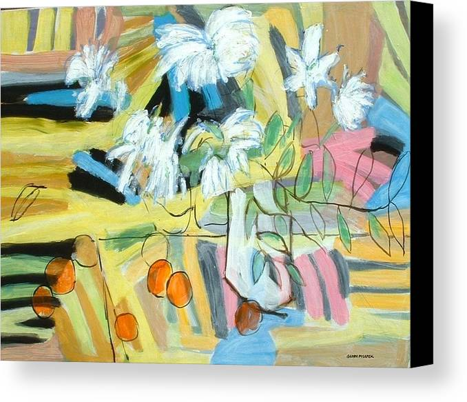 Still Life Canvas Print featuring the painting Beloit Still Life by Garry Pisarek