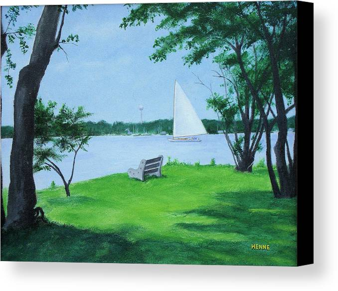 Island Heights Canvas Print featuring the painting Boy Scout Island by Robert Henne