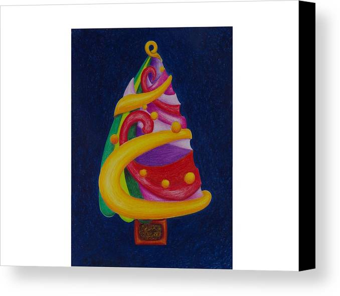 Christmas Canvas Print featuring the drawing Christmas Tree No. Two by Rick Ahlvers