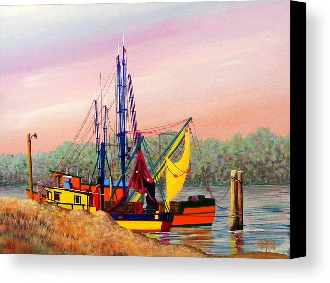 Landscape Canvas Print featuring the painting Colorful Tribute by Hugh Harris