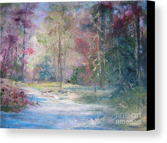 Trees Canvas Print featuring the painting Colors Changing by Judy Groves