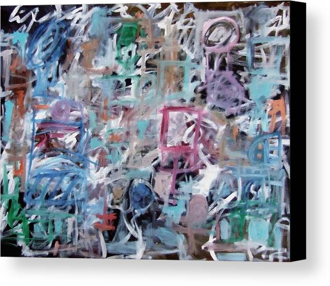 Abstract Canvas Print featuring the painting Composition No. 1 by Michael Henderson