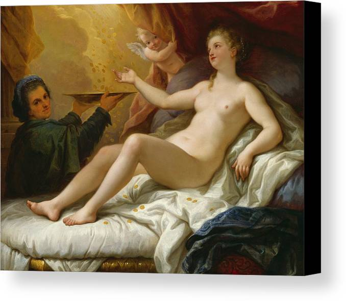 Danae Canvas Print featuring the painting Danae by Paolo di Matteis