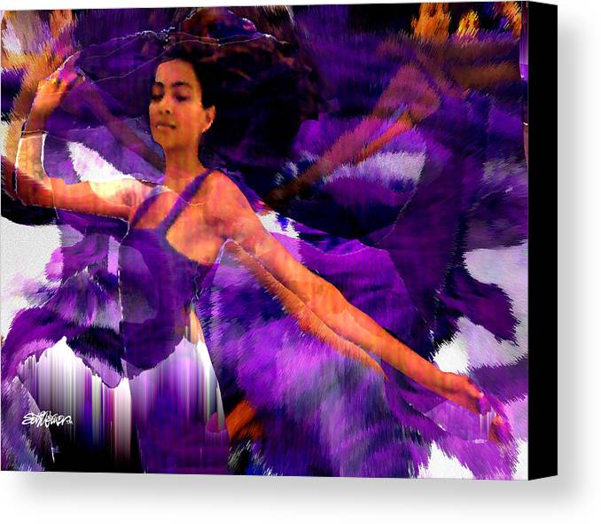 Mystical Canvas Print featuring the digital art Dance Of The Purple Veil by Seth Weaver