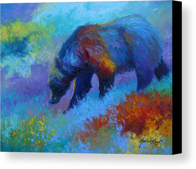 Western Canvas Print featuring the painting Denali Grizzly Bear by Marion Rose