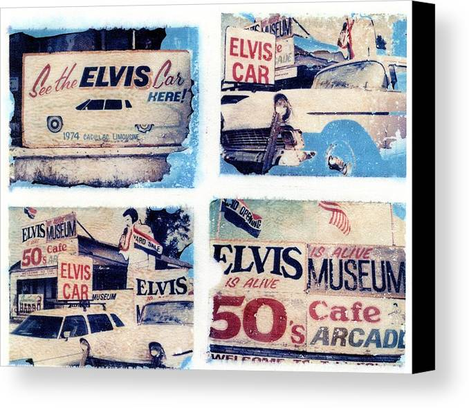 Elvis Canvas Print featuring the photograph Disgraceland by Jane Linders