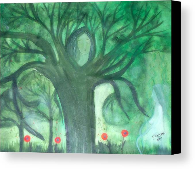 Dna Canvas Print featuring the painting DNA by Sacred Muse