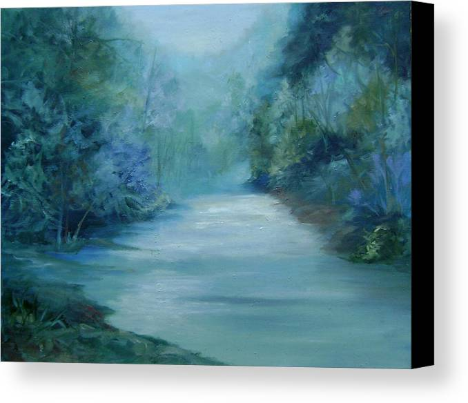 Burton River Georgia Canvas Print featuring the painting Dreamsome by Ginger Concepcion