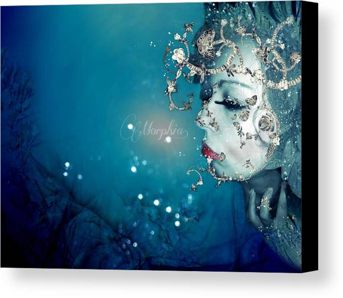 Elf Canvas Print featuring the digital art Elf Of The Midnight II by Maria Drefahl