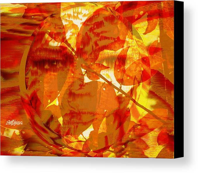 Oriental Canvas Print featuring the digital art Empress Of The Sun by Seth Weaver