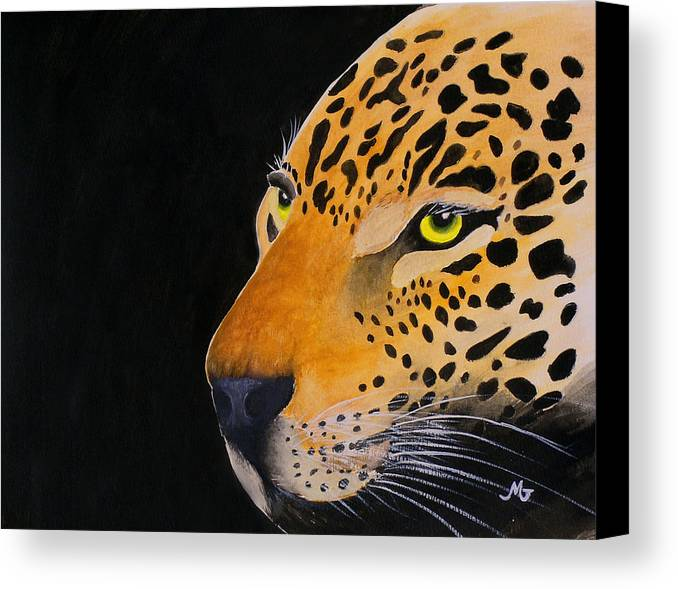 Leopard Canvas Print featuring the print Eyes Of Prey by Mary Gaines