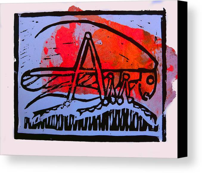 Cricket Canvas Print featuring the mixed media Fire Cricket by Adam Kissel