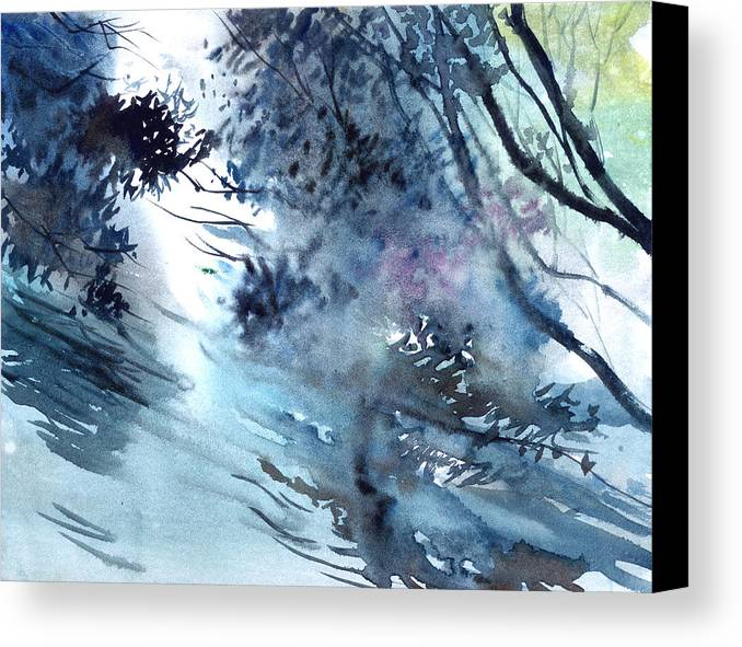 Floods Canvas Print featuring the painting Flooding by Anil Nene