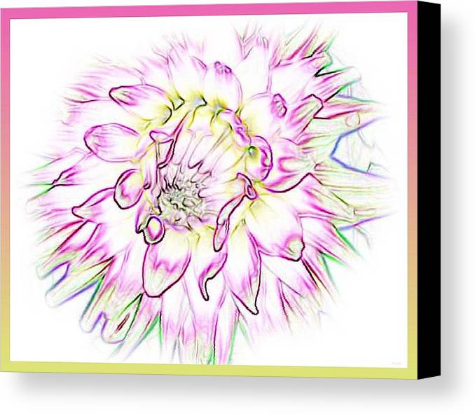 Flower Canvas Print featuring the digital art Floradoodle by Linda Galok