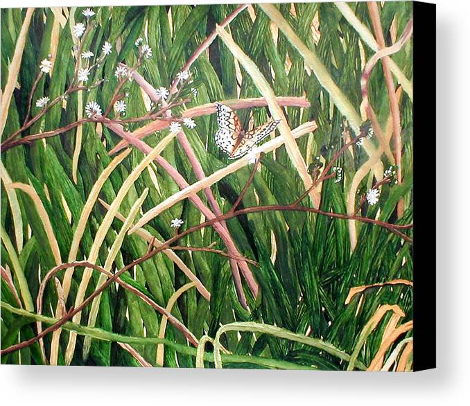 Fort Toulouse Canvas Print featuring the painting Fort Toulouse Butterfly by Beth Parrish