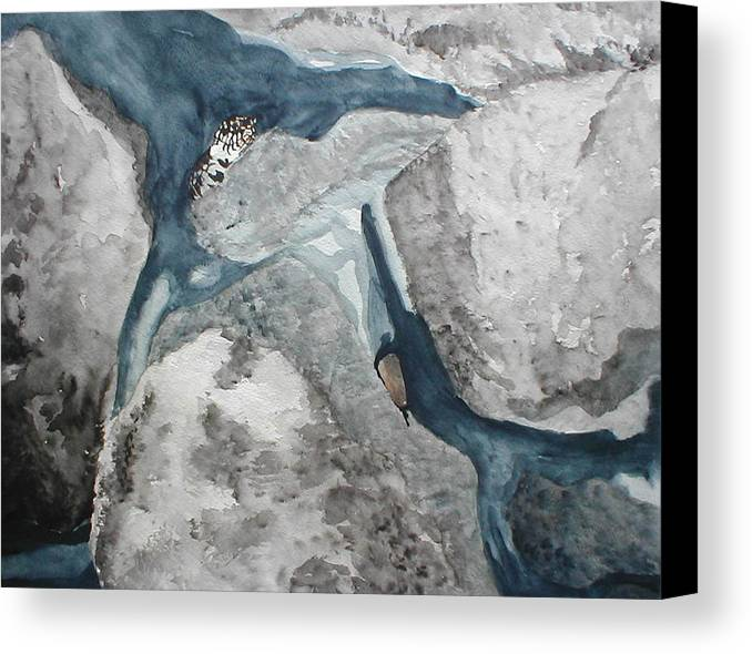 King Snake Canvas Print featuring the painting Fort Toulouse King Snake by Beth Parrish