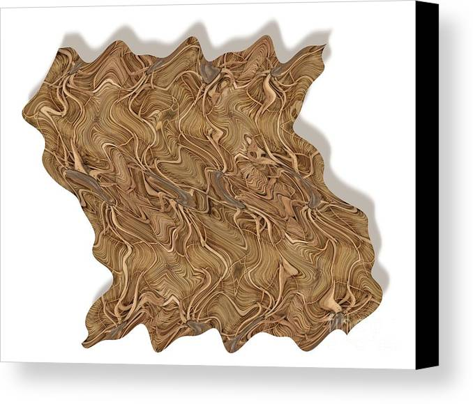 Abstract Canvas Print featuring the digital art Grass Works by Ron Bissett