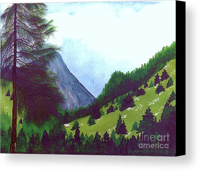 Original Painting Canvas Print featuring the painting Heidi's Place by Patricia Griffin Brett