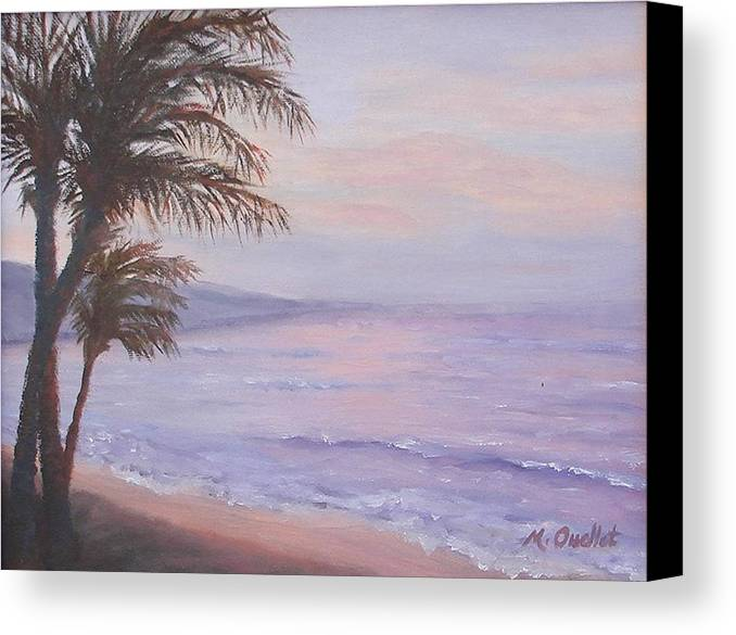 Landscape Canvas Print featuring the painting Honeymoon In Maui by Maxine Ouellet
