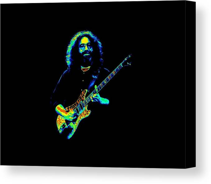Jerry Garcia Canvas Print featuring the photograph Jerry T1 by Ben Upham