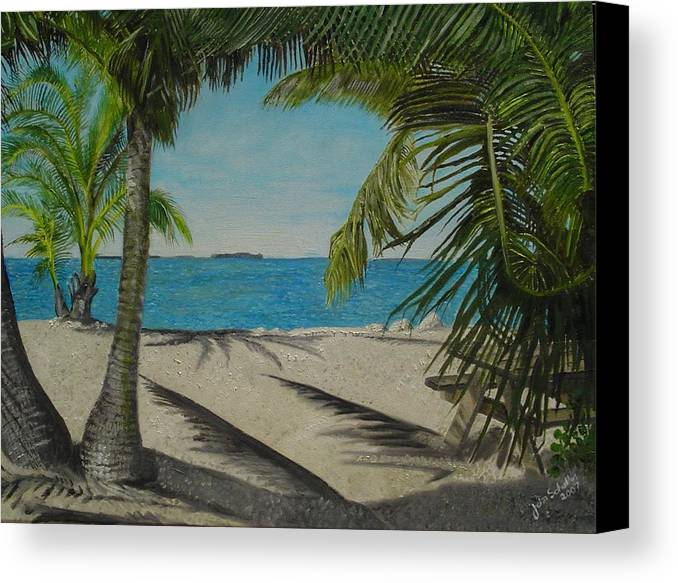Key West Canvas Print featuring the painting Key West Clearing by John Schuller
