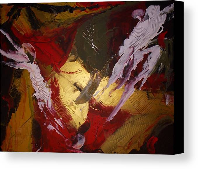 Original Canvas Print featuring the painting Kindred Spirits by Joey Santiago