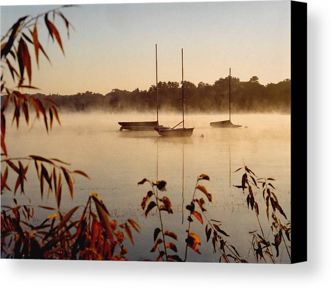 Landscape Canvas Print featuring the photograph Lake Calhoun by Kathy Schumann