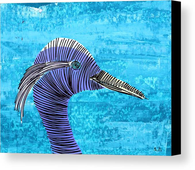 Bird Canvas Print featuring the painting Lib-588 by Artist Singh