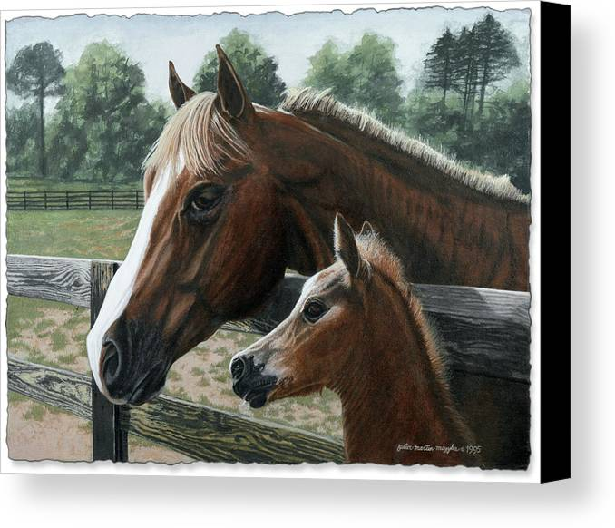 Landscape Canvas Print featuring the painting Like Father Like Son by Peter Muzyka