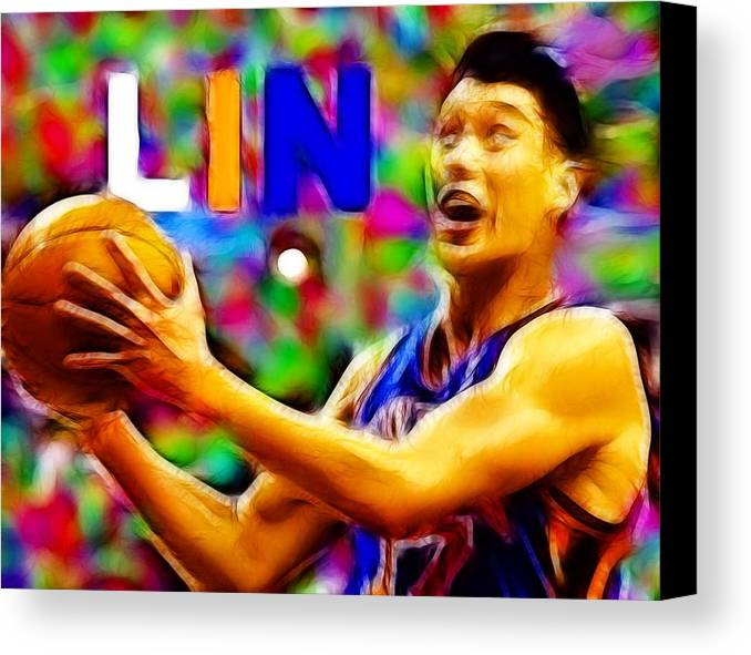 New York Canvas Print featuring the digital art Magical Jeremy Lin by Paul Van Scott