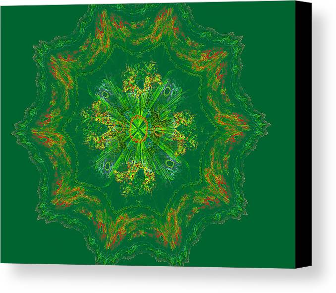 Mary Raven Canvas Print featuring the digital art Mandala Journey by Mary Raven