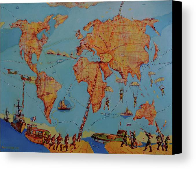 Map Of The World Canvas Print / Canvas Art by Romeo Melikyan