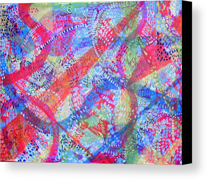 Dots Canvas Print featuring the painting Microcosm II by Rollin Kocsis