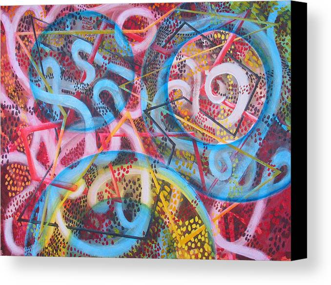 Abstract Canvas Print featuring the painting Microcosm Xii by Rollin Kocsis