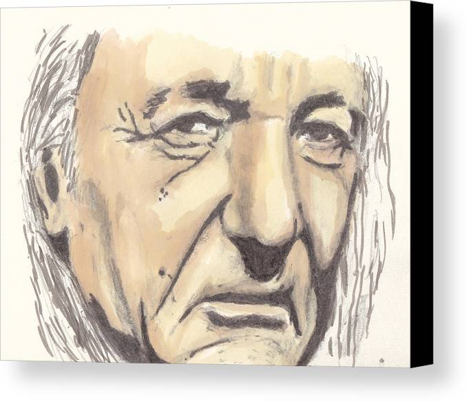 Portrait Canvas Print featuring the drawing Morality by Jim Valentine