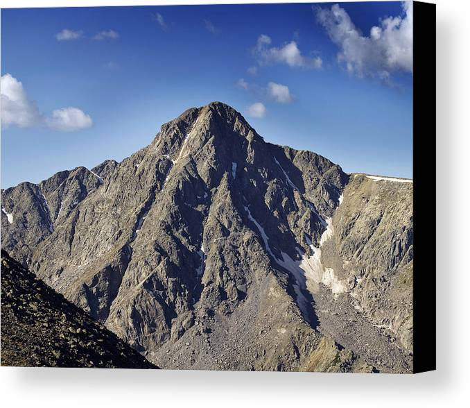 mount Of The Holy Cross holy Cross colorado Rockies rocky Mountains Canvas Print featuring the photograph Mount Of The Holy Cross In The Sawatch Range Of The Colorado Rockies by Brendan Reals