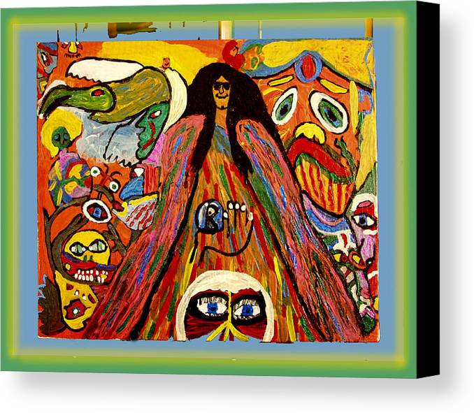 Canvas Print featuring the painting Mr. Howard Stern by Betty Roberts