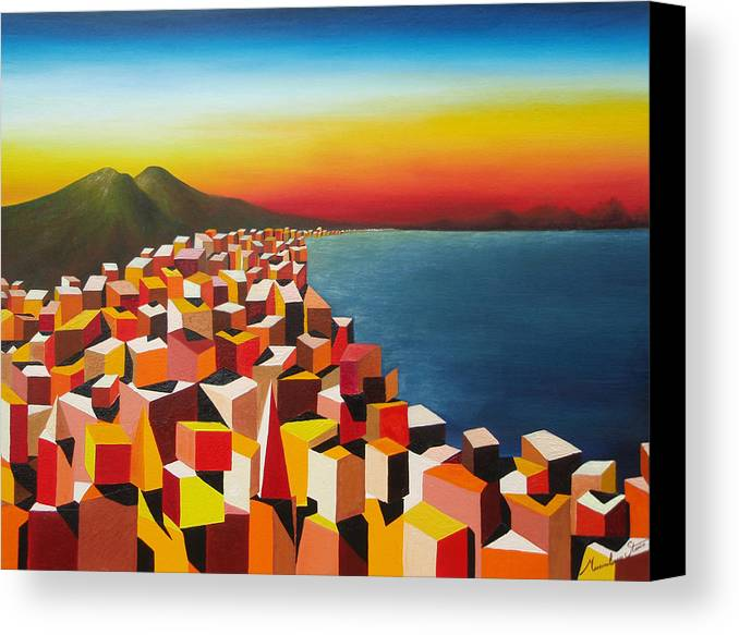 Colors Canvas Print featuring the painting Napule' Mille Culure by Massimiliano Stanco