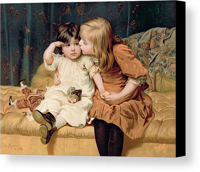 Never Mind Canvas Print featuring the painting Nevermind by Frederick Morgan