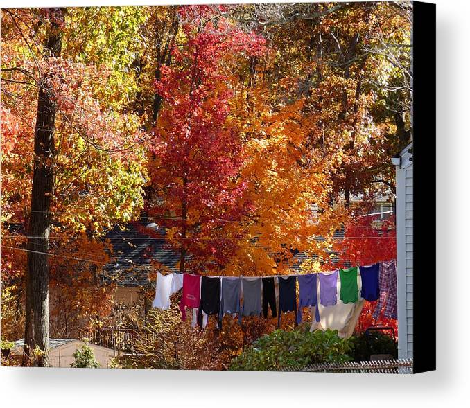 Color Canvas Print featuring the photograph New England Color In October by Gene Rouse