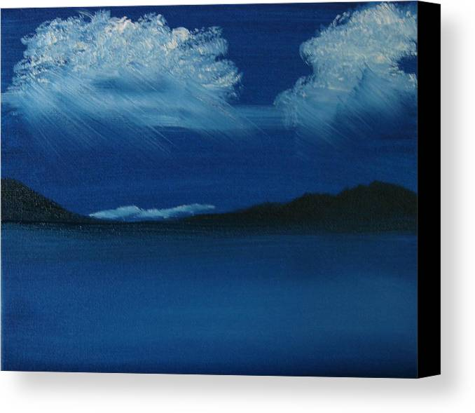 Landscape Canvas Print featuring the painting Night Sky by Dottie Briggs