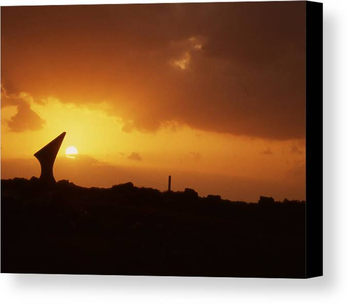 Canvas Print featuring the photograph Okinawa Sunset by Curtis J Neeley Jr